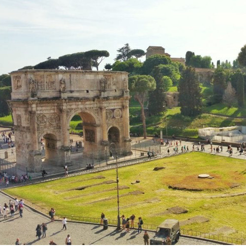 Sightrunning Rome Arco di Costantino